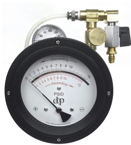 Differential Pressure Plus designs and manufacturers differential pressure gauges and filter indicators. Our main industries are cyrogenic storage for liquid oxygenm nitrogen, and natural gas. Filtration of water, oil, and other gases and liquids. Leak detection systems for large tanks and pipelines. Flow rates on venturis and other flow type devices. We are located in the United States and have been manufacturing since 1991. We also make a like of 4-20mA transmitters and entire line of testing equipment. Our backflow test kits are used to test back flow preventers around the world